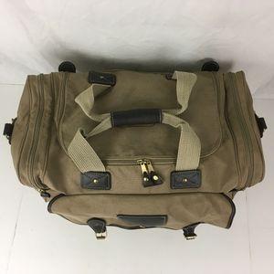 e93d01d23f Eddie Bauer Bags - Eddie Bauer Ford Canvas   Leather Duffle Bag USA